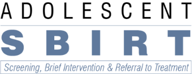 Adolescent SBIRT Screening, Brief Intervention & Referral to Treatment Logo